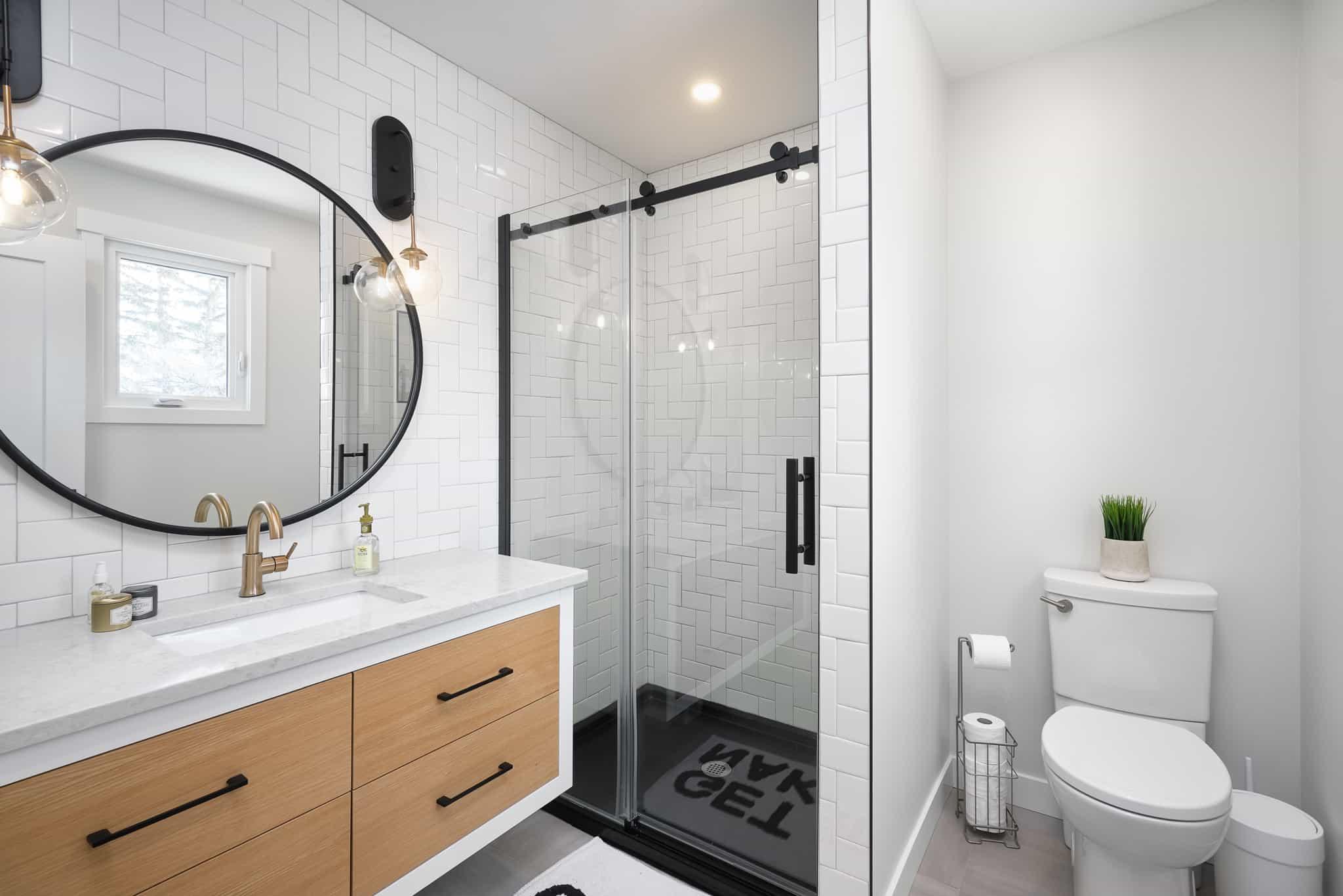 Collaborative Construction Renovation Contractors Regina bathroom shower backsplash tile